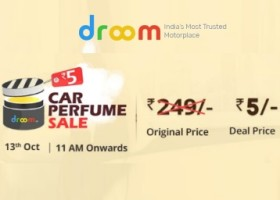 Sale at 13th Oct : Get Car Perfume at Just Rs. 5 Only
