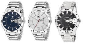 Espoir Day and Date Combo of 3 Analogue Multicolor Dial Men's Watch Combo
