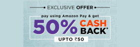 Exclusive Offer: Avail 50% cashback via Amazon Pay