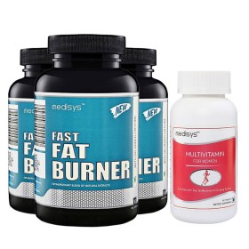 Medisys Fast Fat Burner Combo Pack of 3 [Free Multivitamin for Women]