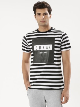 Best Offer: Garcon Striped T-Shirt With Foil Print