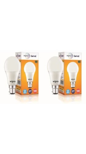 Dhamaka Offer: Wipro 10 Watt LED Bulb Cool Day Light 6500 K Pack of 2