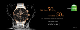 Get 50% Off On Men & Women Watches