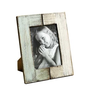 Flat 50% Off On Stylish Wooden Photo Frame - Green And Cream