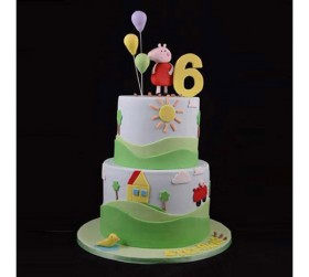 Order 2 Tier 4 kg Cartoon Cake At Just Rs 7,899 From EmotionGift