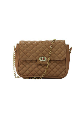 Flat 60% Off On Fawn Quilted Sling Bag