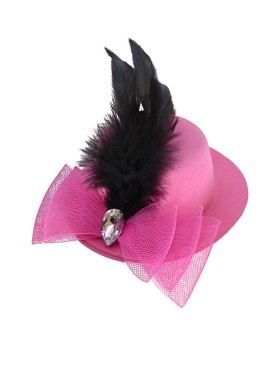 Flat 66% OFF On Pink Fabric Hair Clip