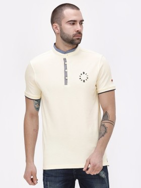 Grab 60% OFF On Grandad Collar Polo Shirt