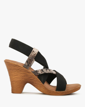 Flat 60% Off On Catwalk Strappy Slingback Cone Women Heels @ Reliance Trends