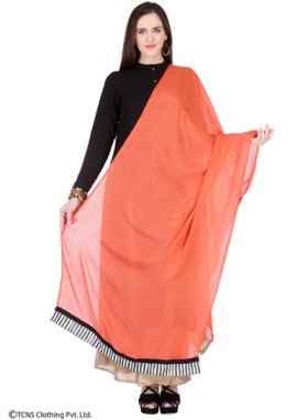 Add Elegance To Your Look With This Orange Viscose Dupatta Worth Rs 450 Only