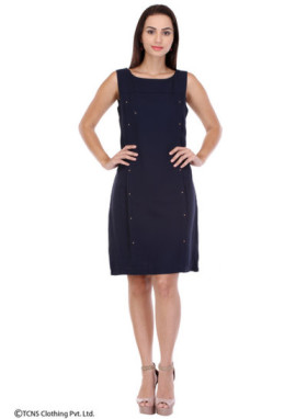 Shop For Blue Sleeveless Dress At Rs 1400 Only