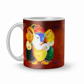 Flat 75% Off On Ganesh chaturthi 320ml Ceramic Printed Mug