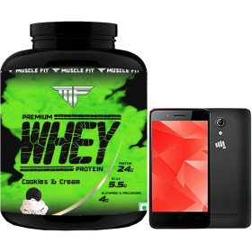 Get 14% OFF On Muscle Fit Premium Whey Protein + Free Micromax Bharat 2, 4G Smart Phone