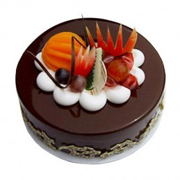 Best Price Offer On Fruit Chocolate Cake @BookMyFlowers