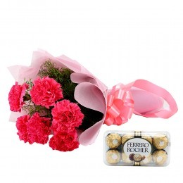 Cute Hamper: Flat 21% OFF On Flower Bouquet & Chocolate Box