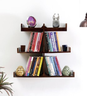 Buy Solid Wood Wall Shelf Finish By Woodsworth And Get 56% Off
