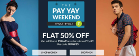 Flat 15% Off On Orders Over Rs 2,499 + Get Free Shipping On Orders Above Rs 999/-