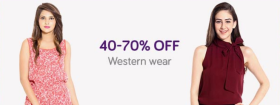 40-80% Off On Clothing Footwear & Accessories + 15% Cashback On FreeCharge Wallet.