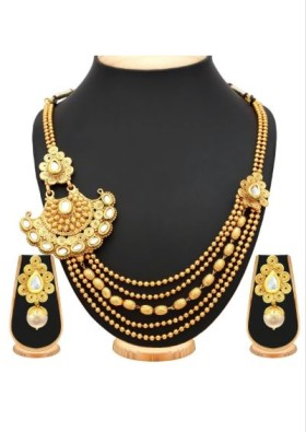 Shop For Alloy Necklace In Gold Colour At Just Rs.622