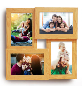 Flat 42% Off On Beige Wood 12 x 1 x 12 Inch Premium Wall Hanging Collage Photo Frame