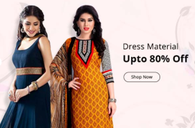 Upto 80% Off On Unstiched Women Dresses
