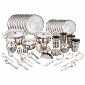 Amazing Gifting Offer: Flat 71% OFF On Stainless Steel Dinner Set