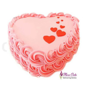 Shop For Delicious Heart-Shaped Rose Cake At 10% OFF