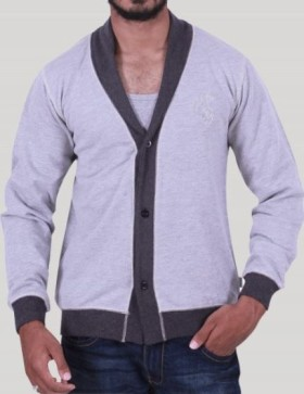 Avail 25% OFF On Grey Contrast Shawl Ca Set Available At Boer And Fitch