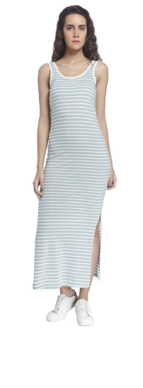 Purchase Vero Moda Stripes Thin Casual Maxi Dress @Rs 675