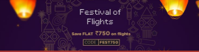 Flat Rs 750/- Off On Flights