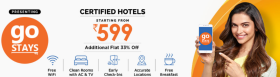 Certified Hotel Bookings Starting From Rs 599/- + Additional Flat 33% Off