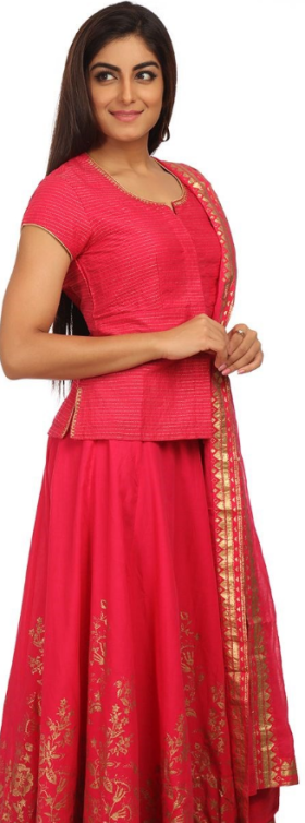 Flat 50% Off On Pink Cotton Suit Set