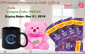 10% Instant Discount on Order Gifts in India