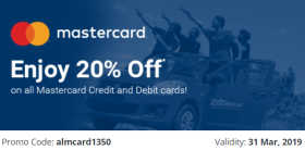 Zoomcar Exclusive: Get 20% Off On All Master Credit / Debit Cards