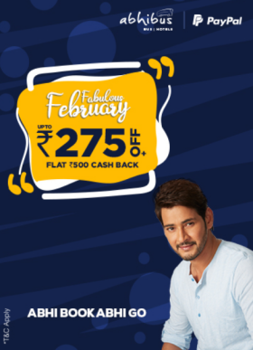 Abhibus Special: Avail Upto Rs 275/- Off + Rs 500/- PayPal Cashback