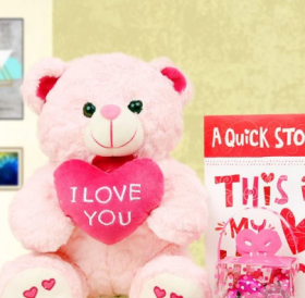 Get This Cute Combo Of Teddy Bear, Card & Chocolate And Avail 20% OFF