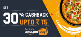 Get 30% Cashback Upto Rs 75/- On Dominos Pizza Through Amazon