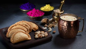 Special Holi Sweets: Gujia and Thandai Combo