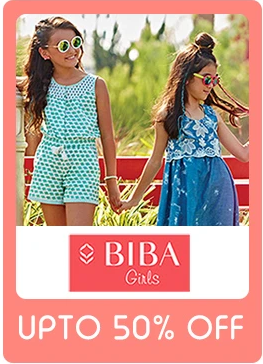 Offer For Little Ones:- Get Amazing Styles For your  Kids On Biba Brand