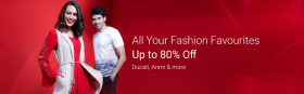 Get Up To 80% OFF On All Your Fashion Favorites