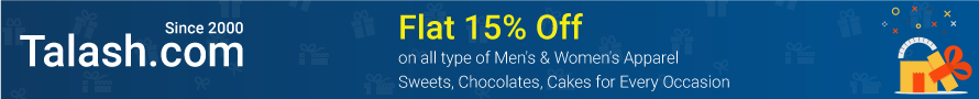 Flat 15% Off on All Men and Women's Apparel