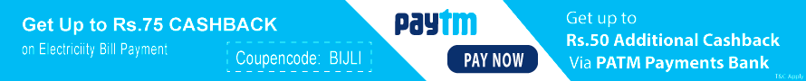 Get up to Rs. 75 Cashback on Electricity Bill Payment Use Coupon Code BIJLI