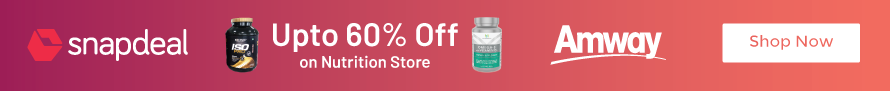 Get Flat Upto 60% Off on Nutrition Store at Snapdeal