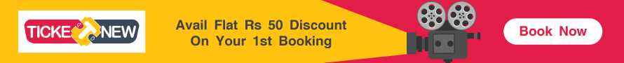 Flat Rs. 50 Off on your First Movie Ticket Booking