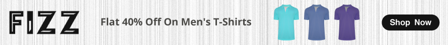 Flat 40% off on Men's T-Shirt