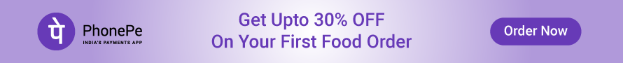 Upto 30% Off on Food Order via PhonePe